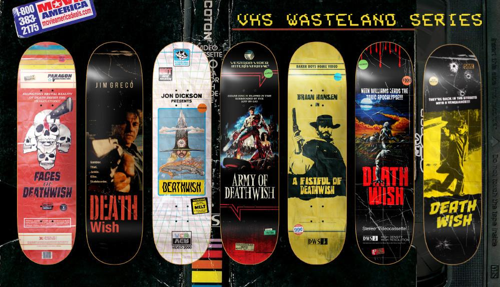 DEATHWISH SKATEBOARDS Unleashes VHS Video Cover Inspired Decks with Their VHS WASTELAND Line!
