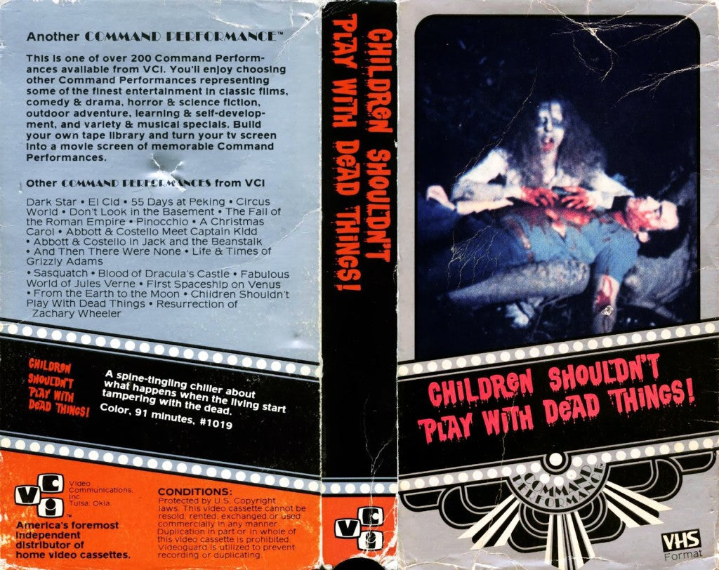 Children Shouldn't Play with Dead Things US VCI VHS