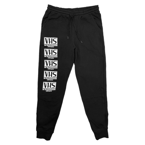 VHS is Happiness - Black Jogger Sweatpants