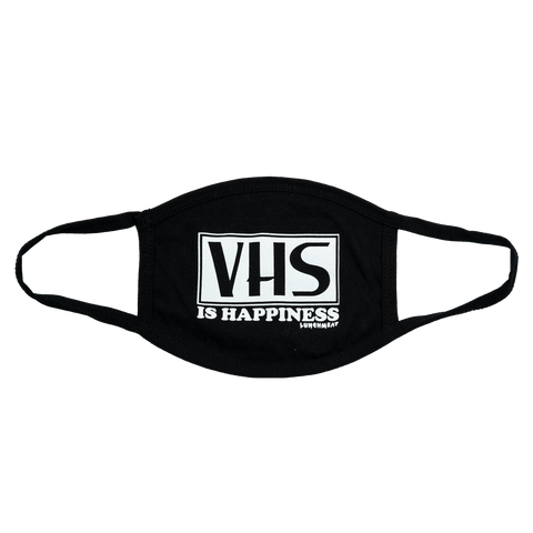 VHS IS HAPPINESS FACE MASK