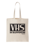 VHS Is Happiness Tote Bag - Natural