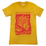 Rewind or Die Tee - Mustard Yellow
