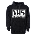 VHS Is Happiness - Mineral Wash Hooded Pullover