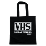 VHS Is Happiness Tote Bag