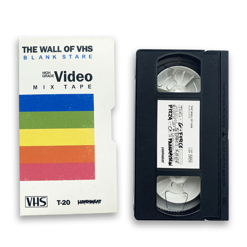 THE WALL OF VHS BLANK STARE VIDEO MIXTAPE