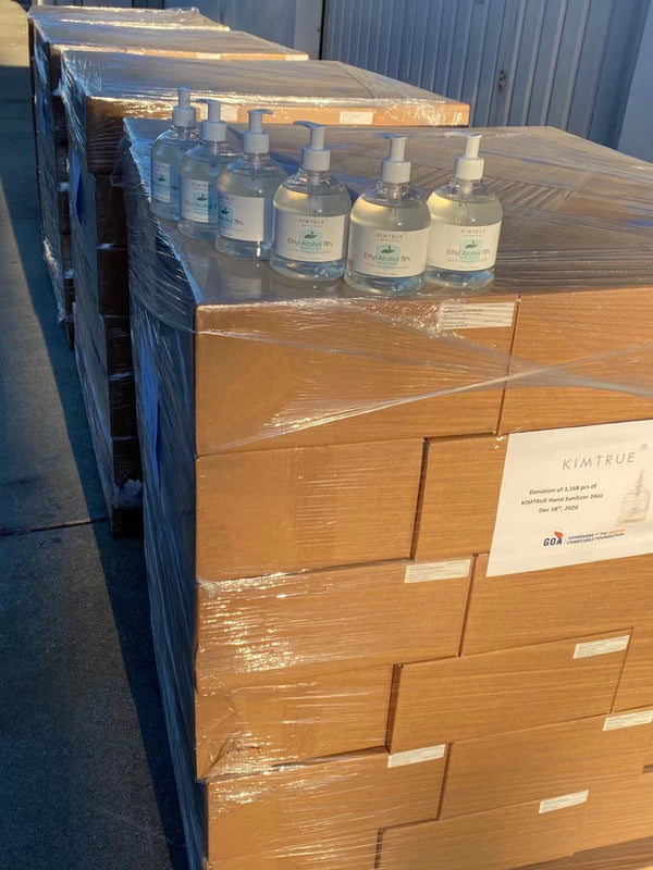 Kimtrue donated 3168 pcs of 16OZ Hand Sanitizer to Local Community