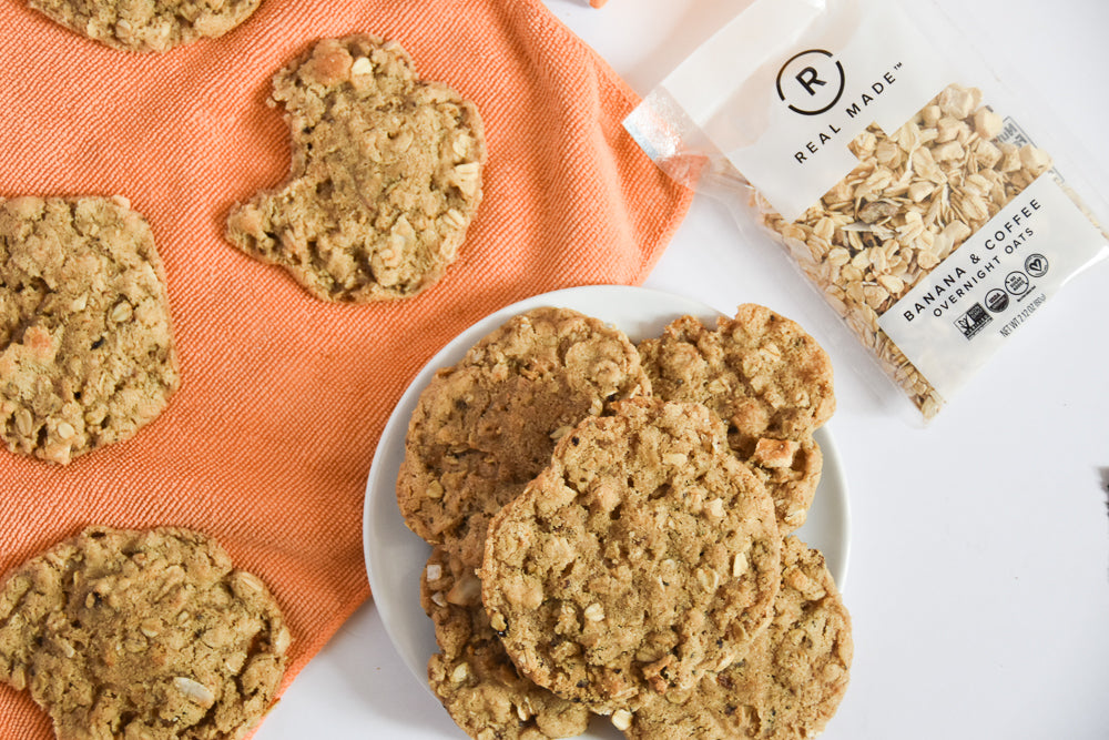 Banana & Coffee Oatmeal Cookies