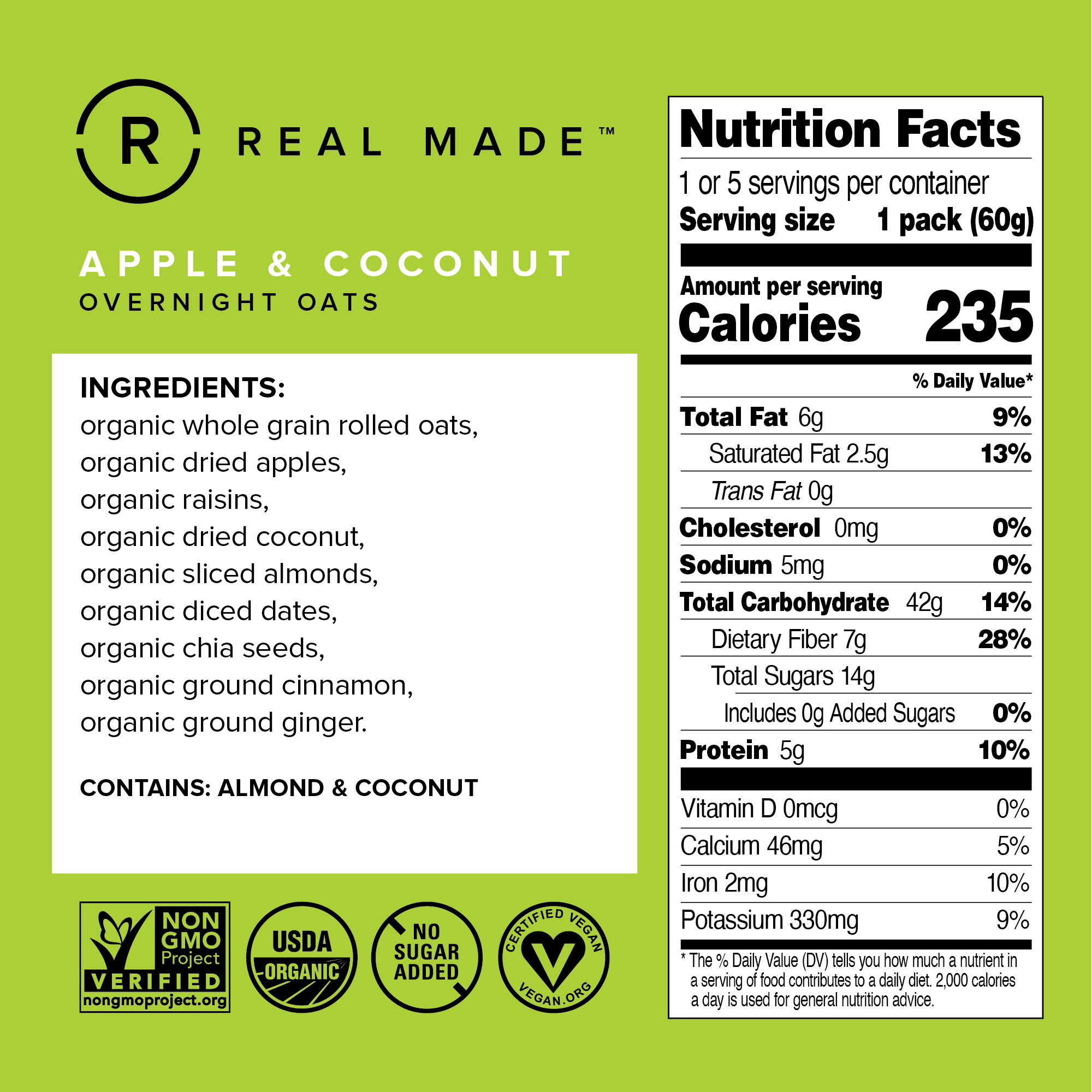 Apple & Coconut Nutrition Facts
