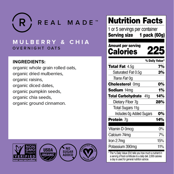 Mulberry & Chia Nutrition Information