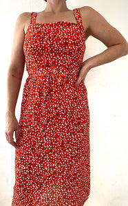 Speckled Red Dress
