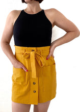 Load image into Gallery viewer, Mustard Mini Skirt