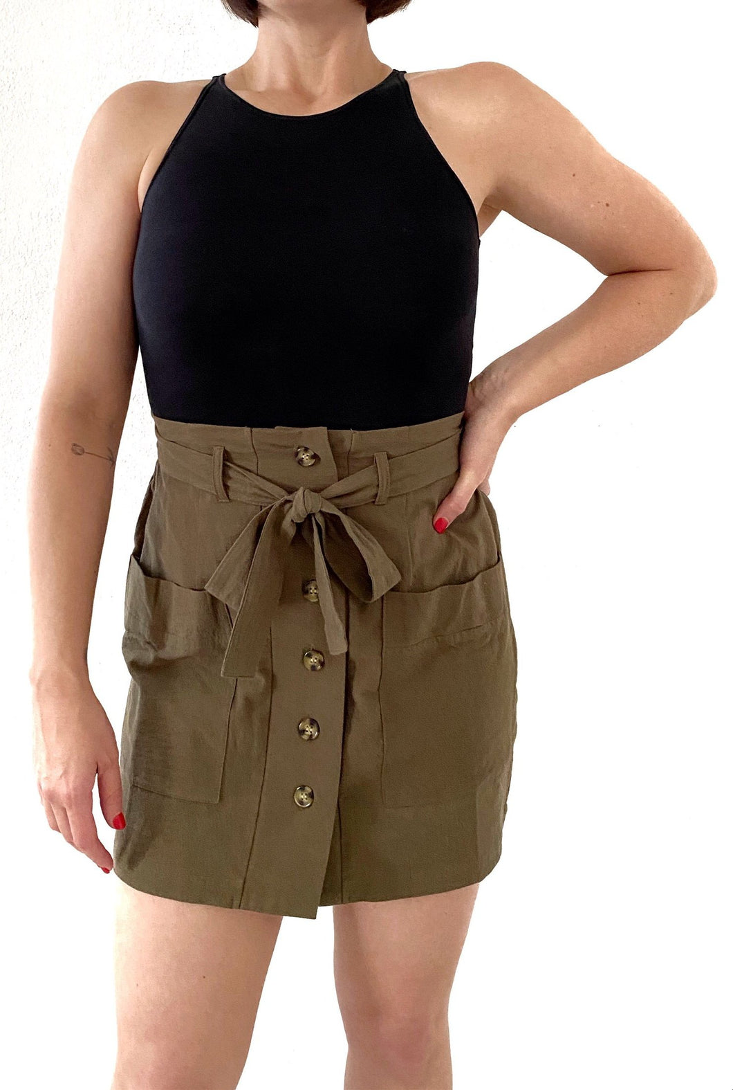 Khaki Mini Skirt