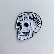 Load image into Gallery viewer, OVERTHINKING SKULL ENAMEL PIN