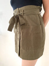 Load image into Gallery viewer, Khaki Mini Skirt