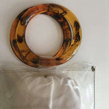 Load image into Gallery viewer, CLEAR TORTIE HOOP BAG