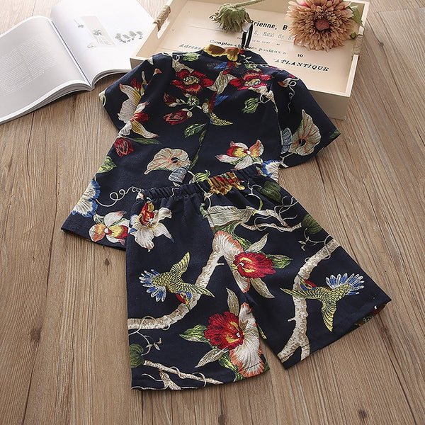2pcs Japanese Summer Style for Boys and Girls Cotton