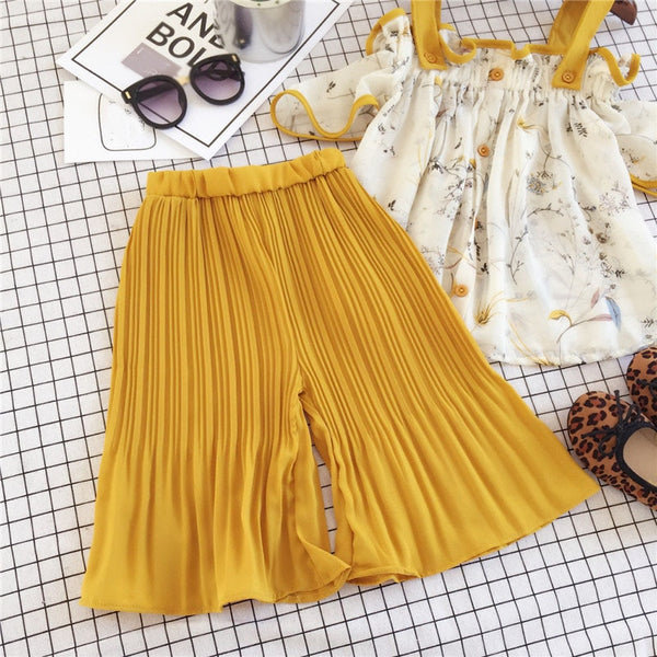 Cute Yellow Summer Outfit Baby Girl Cotton