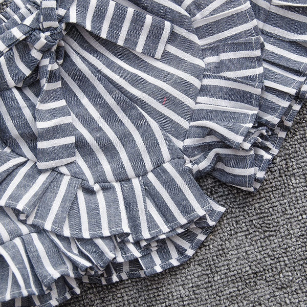 2pcs Summer Stripes Baby Girl