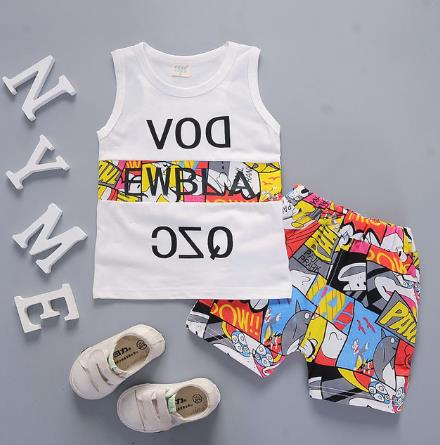 2pcs Summer Sleeveless Baby Boy