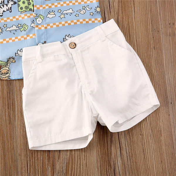 2pcs Simple Casual Summer Outfit Boy