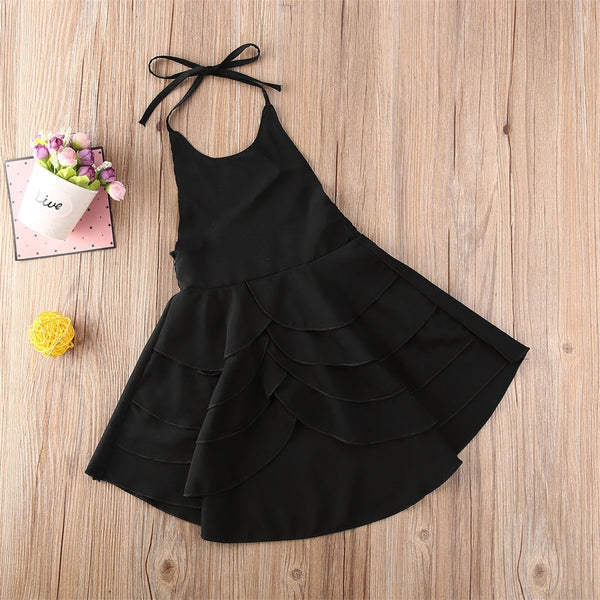 Pretty Backless Summer Dress Girl Cotton