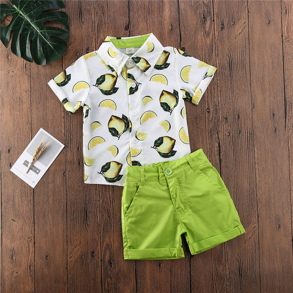 2pcs Yellow Lemon Outfit Boy