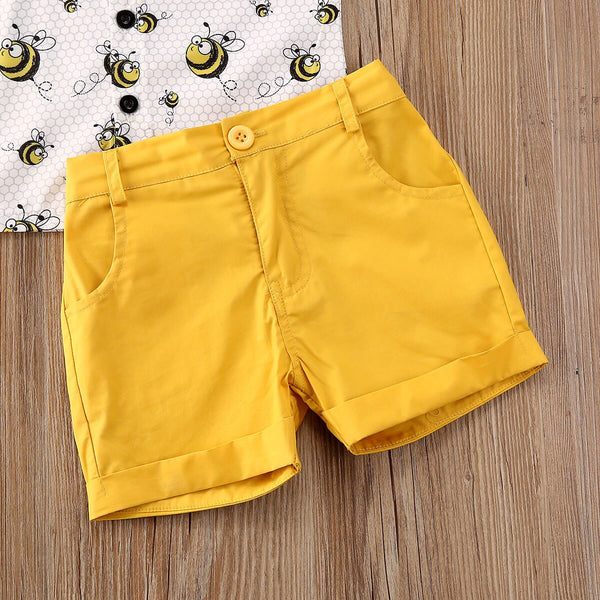 2pcs Summer Bow Tie Outfit Boy Cotton