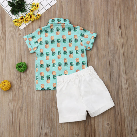Pineapple Summer Outfit Cotton