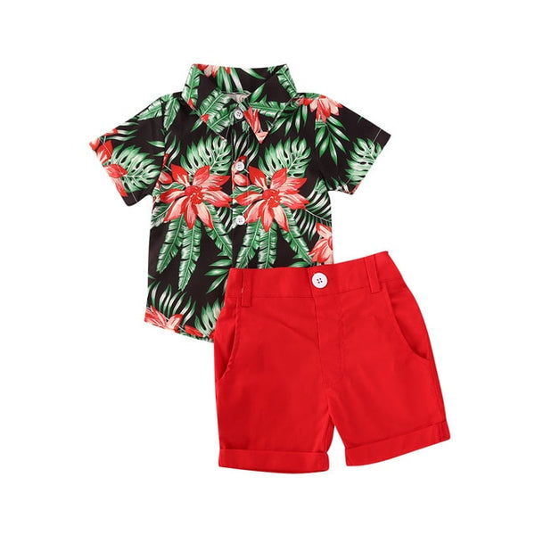 2pcs Floral Summer Outfit