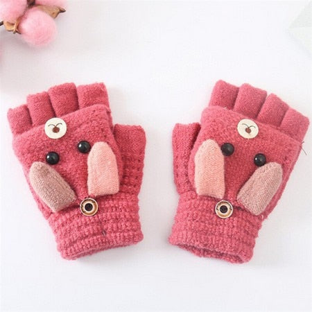Cute Bunny Winter Gloves