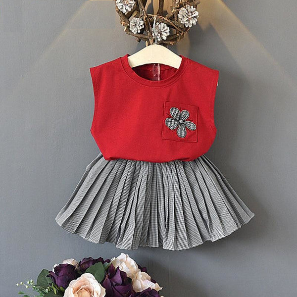 2pcs Baby Girl Sleeveless Summer Feel