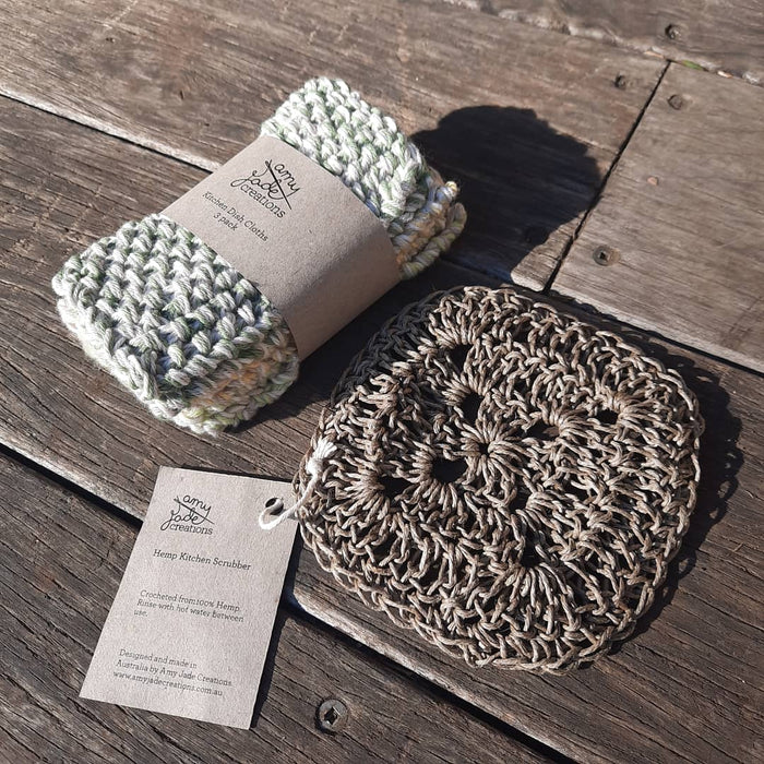 Amy Jade Creations 100% Hemp Dish Scourer