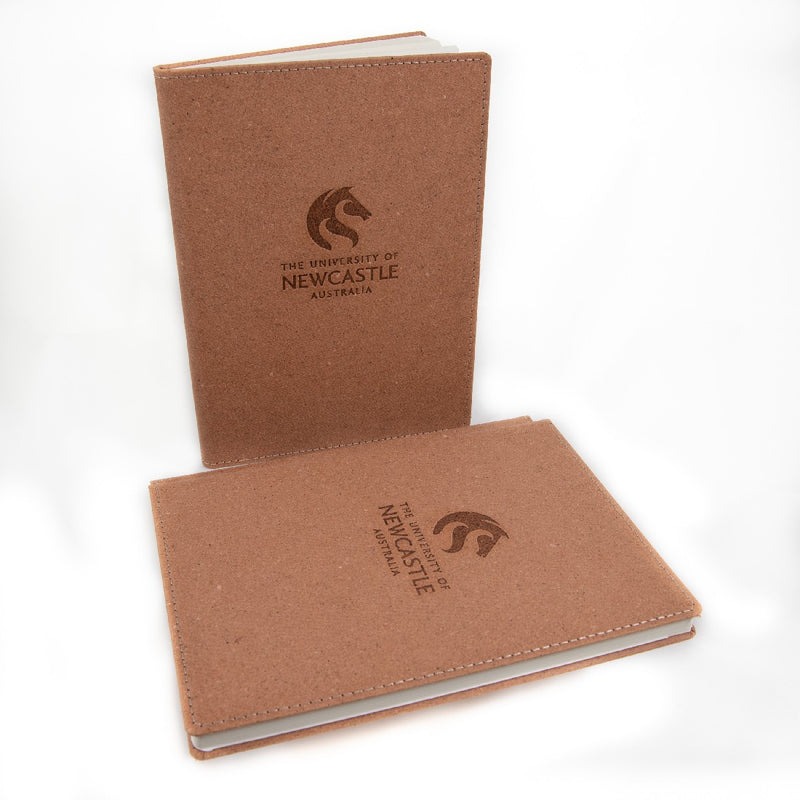 RECYCLED LEATHER A5 NOTEBOOK - TAN