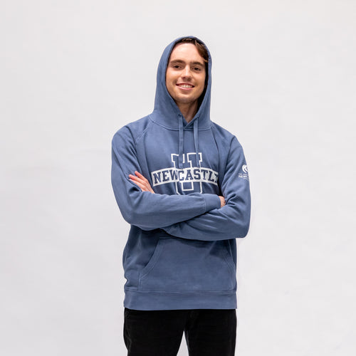 UNISEX CUSTOM FADED HOODIE - BLUE