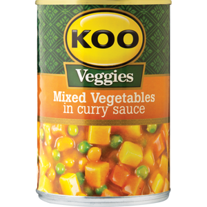Koo Mixed Vegetables In Curry Sauce 420g - The South African Spaza Shop