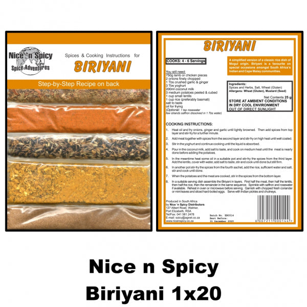 Nice n Spicy Biriyani Sachet - The South African Spaza Shop