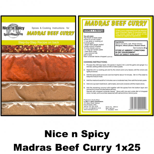 Nice n Spicy Madras Beef Curry Sachet - The South African Spaza Shop