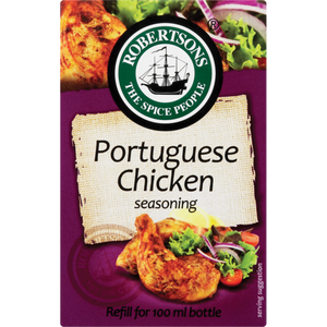 Robertsons Portuguese Chicken Seasoning Refill Box 75g - The South African Spaza Shop