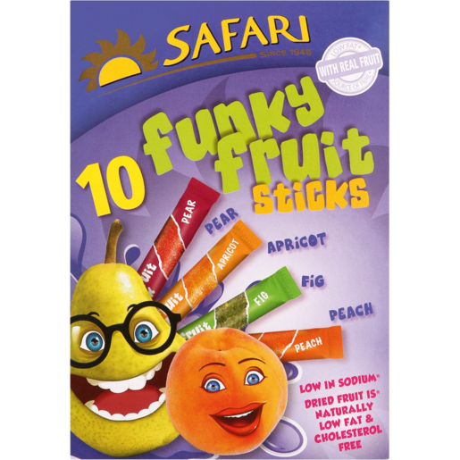 Safari Fruit Sticks Box of 10 - The South African Spaza Shop