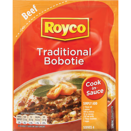 Royco Dry Cook-in- Sauce Traditional Bobotie 50g - The South African Spaza Shop
