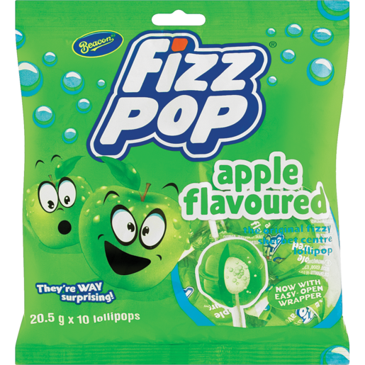 Beacon Fizz Pops Apple 10s - The South African Spaza Shop