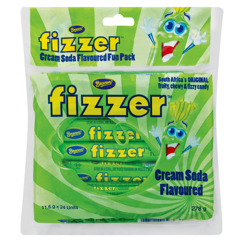 Beacon Fizzer Fun Pack Cream Soda 24s (Full Size not Mini) - The South African Spaza Shop