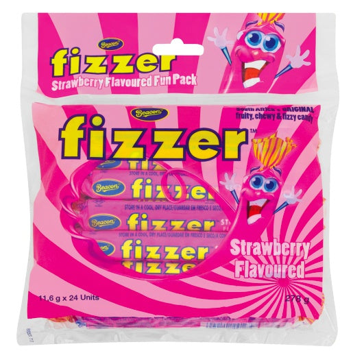 Beacon Fizzer Fun Pack Strawberry 24s (Full Size not Mini) - The South African Spaza Shop