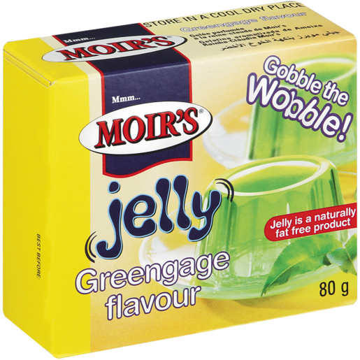 Moirs Jelly Powder Greengage 80g - The South African Spaza Shop