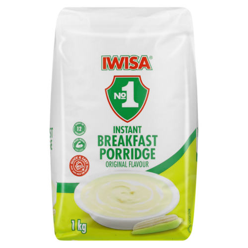 Iwisa Instant Porridge Original 1kg - The South African Spaza Shop