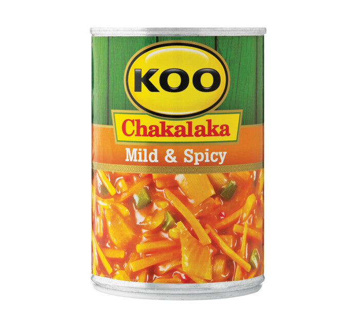 Koo Chakalaka Mild and Spicy 410g - The South African Spaza Shop