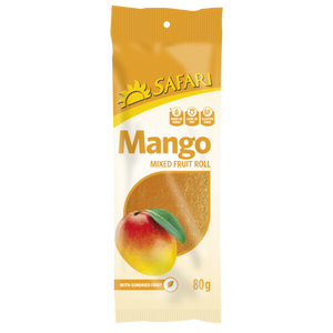 Safari Mango Fruit Roll 80g - The South African Spaza Shop