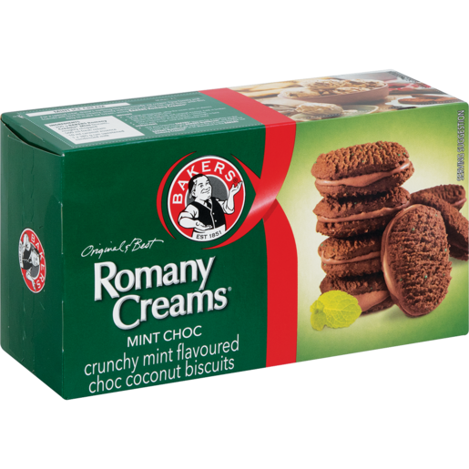 Bakers Romany Creams Mint Choc 200g - The South African Spaza Shop