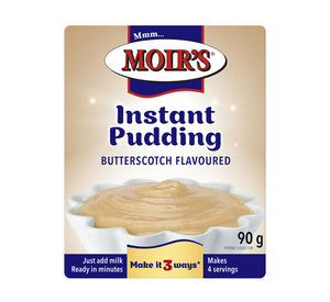 Moirs Instant Pudding Butterscotch 90g - The South African Spaza Shop