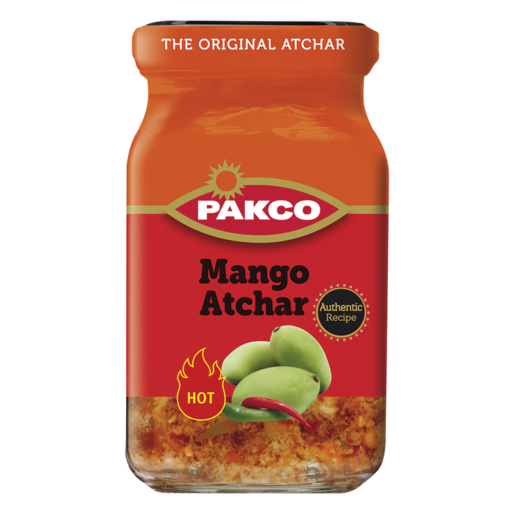 Pakco Pickles Mango Atchar Hot 385g - The South African Spaza Shop